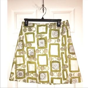 🌸2 for $22 Skirt SALE 🌸 Olive Gray Print Skirt